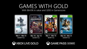 New Games with Gold for March 2021